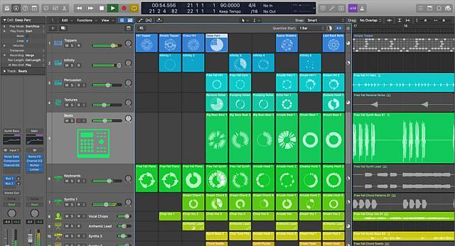 Logic Pro Live Loops for music idea generation