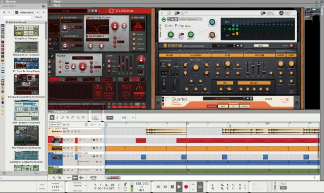 Reason is a great virtual music production studio.