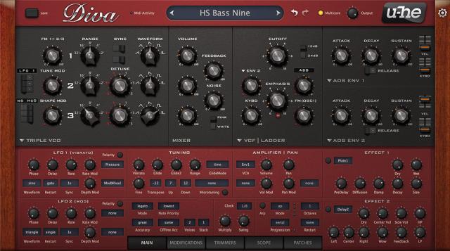 U-he Diva software synthesizer